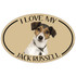 I Love My Jack Russell Colorful Oval Magnet
