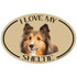 I Love My Sheltie Colorful Oval Magnet
