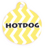 Lemon Chevron Stripe HD Pet ID Tag