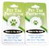 Licorice Chevron Stripe HD Pet ID Tag