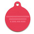 Red Gingham Plaid HD Pet ID Tag