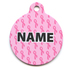 Petite Pink Ribbons HD Pet ID Tag