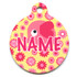 Pink Elephants HD Pet ID Tag