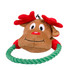 Rope Ring Holiday Reindeer Dog Toy