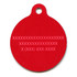 Peppermint Stick Chevron Stripes HD Pet ID Tag