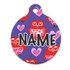 Valentines Owls HD Pet ID Tag