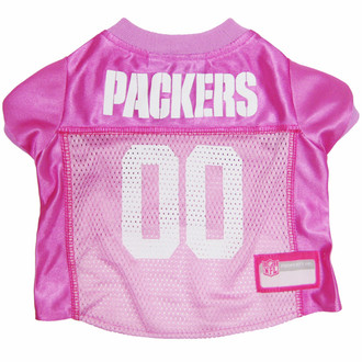 Green Bay Packers Pink Nfl Football Pet Jersey At