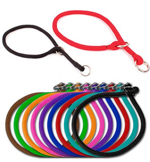 Round Braided Rope Training Dog Collar Hot Dog Collars