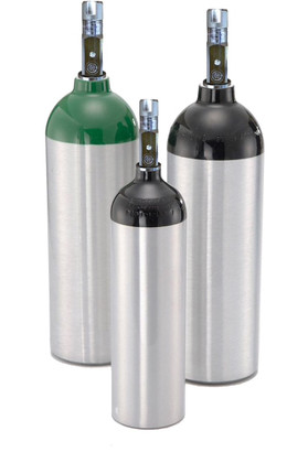 Aluminum Oxygen Cylinder With Z Valve - C Size