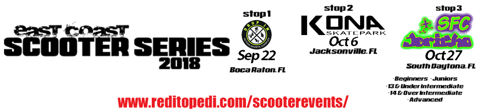 East Coast Scooter Series Event Registration - Scooter Competition for all ages and levels.