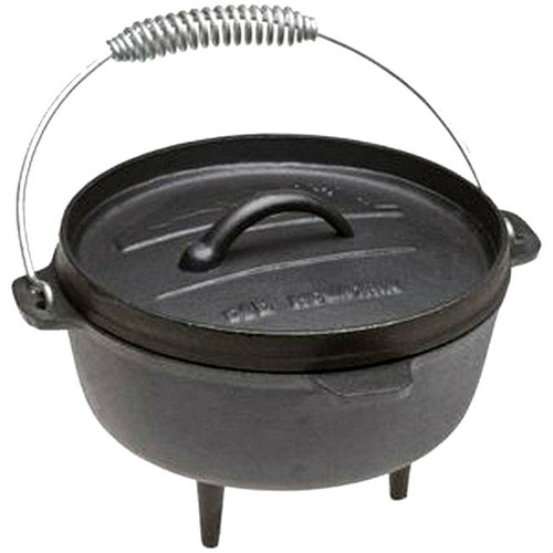 Old Mountain Cast Iron 2 Qt Dutch Oven with Flanged Lid and Feet
