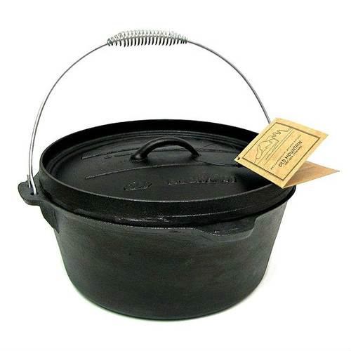 Old Mountain Cast Iron 8 Quart Camp Oven with Flanged Lid