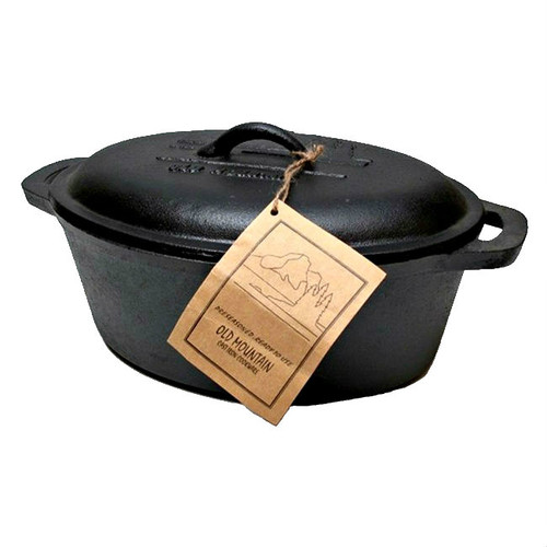 Old Mountain Cast Iron Casserole Dish with Lid and Travel Tote