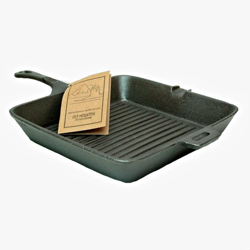 """Old Mountain Square 10"""" Cast Iron Grill Skillet"""