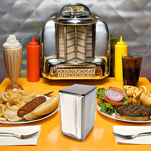 Retro Tall Fold Stainless Steel Spring Load Napkin Dispenser