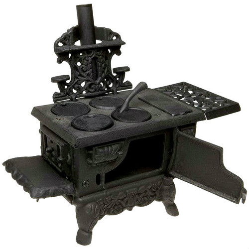 Old Mountain Miniature Cast Iron Wood Cook Stove with Accessories