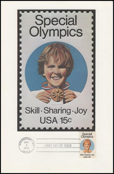 1788 / 15c Special Olympics 1979 Andrews Cachet Maxi Card FDC