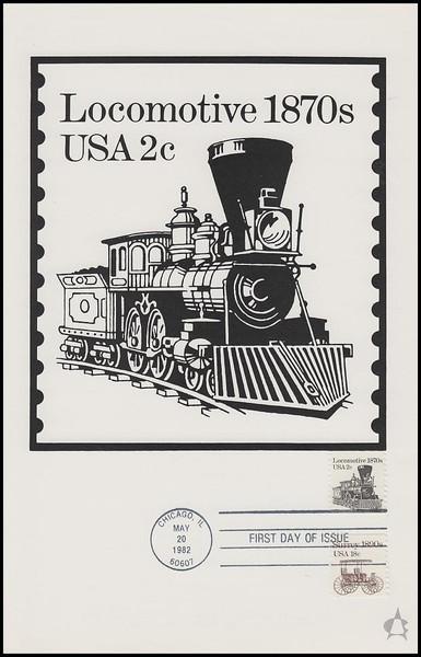 1897a / 2c Locomotive Transportation Series 1982 Andrews Cachet Maxi Card FDC