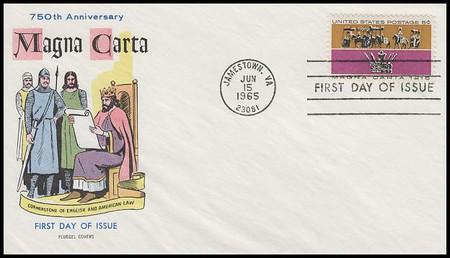 1265 / 5c Magna Carta 1965 Fluegel First Day Cover