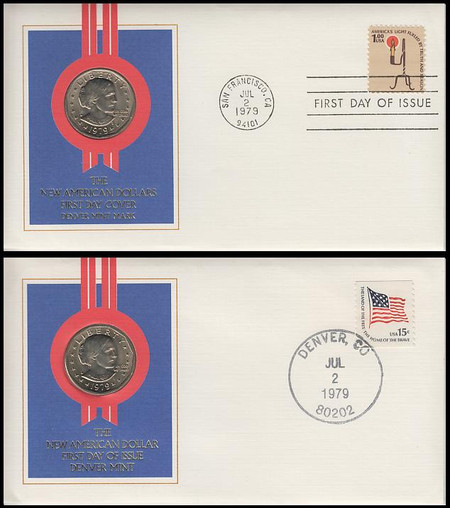 1609 / $1 America's Light / $1 Susan B. Anthony Coin Fleetwood FDC and Event Cover