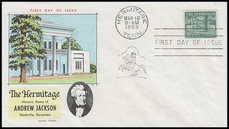 1037 / 4½c The Hermitage : Liberty Series 1959 Fluegel First Day Cover