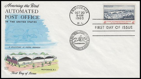 1164 / 4c First Automated Post Office 1960 Fluegel First Day Cover