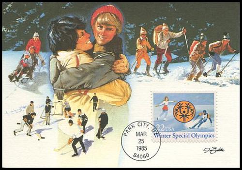 2142 / 22c Winter Special Olympics 1985 Fleetwood Maximum Card