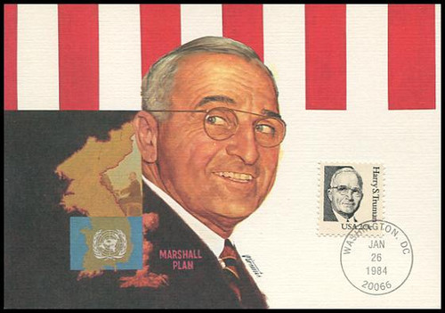 1862 / 20c Harry S. Truman 1984 Fleetwood Maximum Card