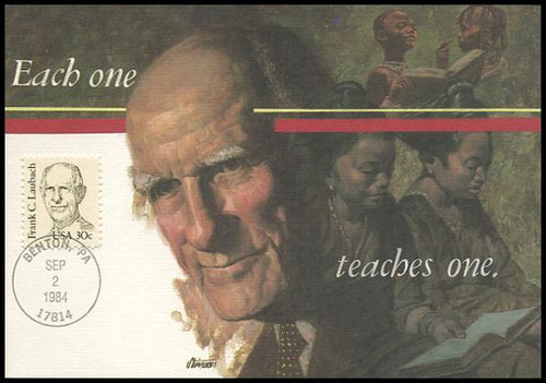1864 / 30c Frank C. Laubach : Great Americans Series 1984 Fleetwood First Day of Issue Maximum Card
