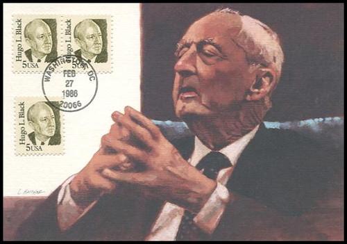 2172 / 5c Hugo L. Black : Great Americans Series 1986 Fleetwood Maximum Card