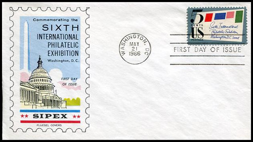 1310 / 5c Sipex 1966 Fluegel FDC