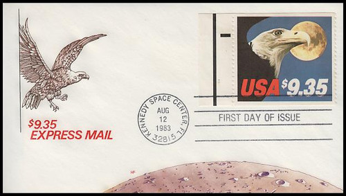 1909 / $9.35 Eagle and Full Moon Express Mail With Tab 1985 House of Farnam FDC