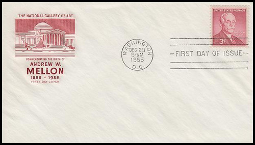 1072 / 3c Andrew W. Mellon House Of Farnam 1955 First Day Cover