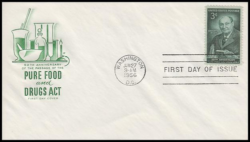 1080 / 3c Pure Food and Drugs Act : 50th Anniversary House Of Farnam 1956 First Day Cover