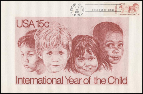 1772 / 15c International Year of the Child 1979 Andrews Cachet Maxi Card FDC