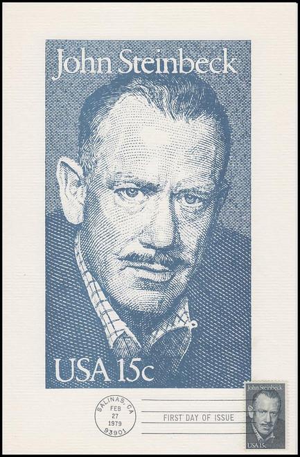 1773 / 15c John Steinbeck : Literary Arts 1979 Andrews Cachet Maxi Card FDC