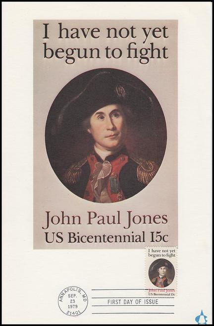 1789 / 15c John Paul Jones 1979 Andrews Cachet Maxi Card FDC