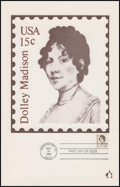 1822 / 15c Dolley Madison 1980 Andrews Cachet Maxi Card FDC