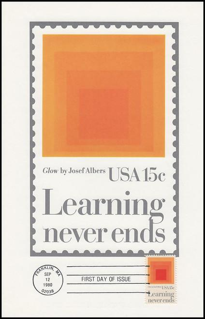 1833 / 15c Education 1980 Andrews Cachet Maxi Card FDC