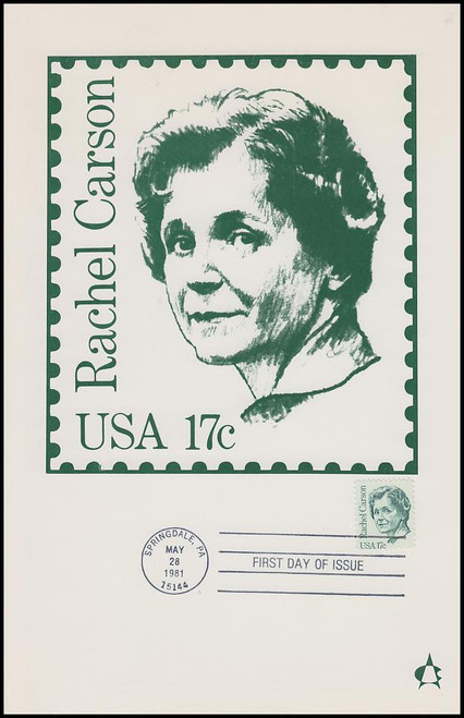1857 / 17c Rachel Carson : Great Americans Series 1981 Andrews Cachet Maxi Card FDC