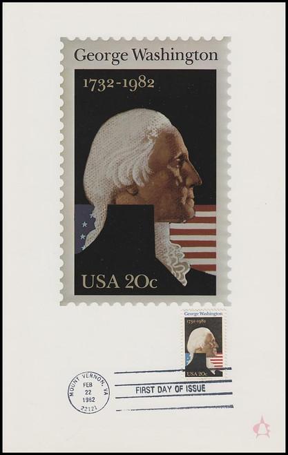 1952 / 20c George Washington 1982 Andrews Cachet Maxi Card FDC
