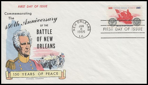1261 / 5c Battle Of New Orleans 1965 Fluegel First Day Cover