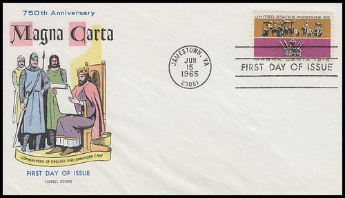 1265 / 5c Magna Carta 1965 Fluegel First Day Cover