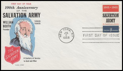 1267 / 5c Salvation Army 1965 Fluegel First Day Cover