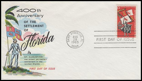 1271 / 5c Florida Settlement 1965 Fluegel First Day Cover