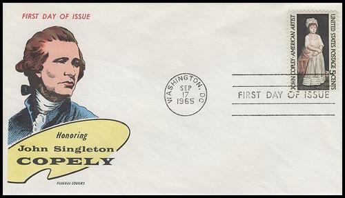 1273 / 5c John Singleton Copley 1965 Fluegel First Day Cover
