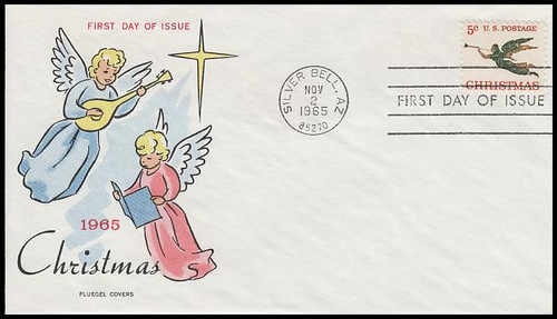 1276 / 5c Angel With Trumpet : Christmas Series 1965 Fluegel First Day Cover