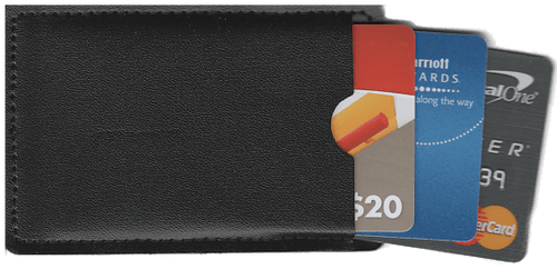12 - Black Leatherette Vinyl Sleeves For Credit Cards / Gift Cards / Business Cards / License and More
