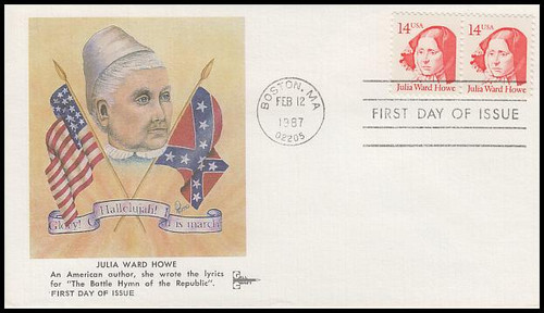 2176 / 14c Julia Ward Howe : Great Americans Series 1987 Gill Craft FDC