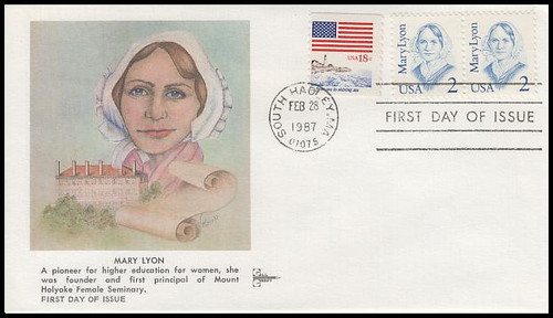 2169 / 2c Mary Lyon : Great Americans Series 1987 Gill Craft FDC
